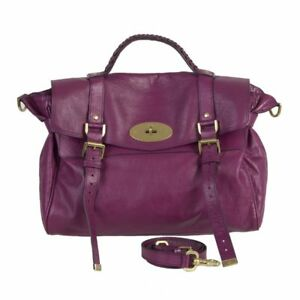 Image is loading 52221-auth-MULBERRY-pink-leather-ALEXA-MEDIUM-Satchel- ac3ffdaef4b55