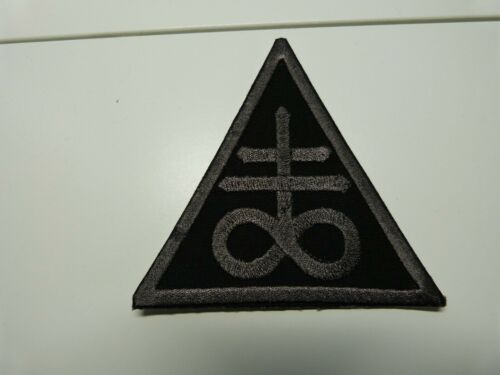 Occult, Sulfur cross Leviathan Cross patch Iron on all black Fast USA shipping