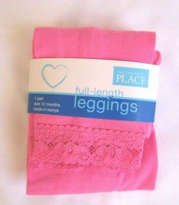 Children/'s Place Solid PINK Tights Pointelle 12-24 Months or 24-36 Months NWT