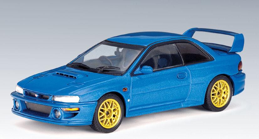 1 43 bilAR Subaru Impreza WRX STI 22B blå tärningskast -modelllllerl NY RARE 58601