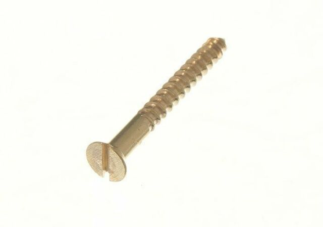 #3 x 3//4 Wood Screw Phillips Round Head Brass Pk 100