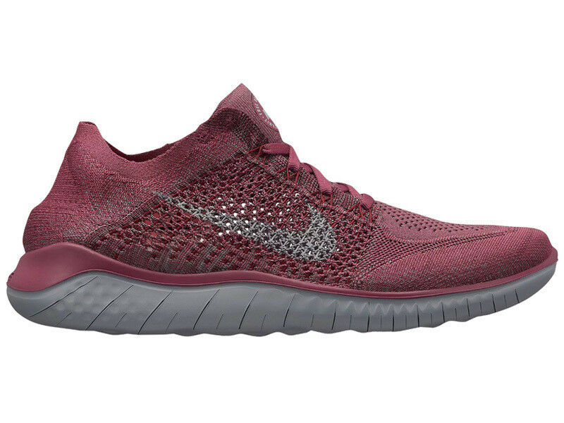 NEW MENS NIKE FREE RN Price reduction FLYKNIT 2018 RUNNING SHOES TRAINERS VINTAGE WINE