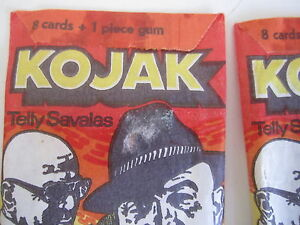 Kojak Vintage Trading Card Lot Unopened Packs TV Series Swedish Lemberger 1975