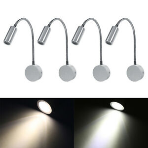 Details About Wall Mounted Led Reading Light Bed Bedside Lamp Flexible Adjust Warm White