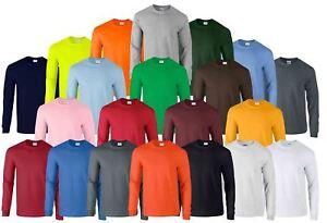 Gildan-Mens-Ultra-Cotton-Adult-Long-Sleeve-Plain-T-Shirt-Tshirt-Cotton-Tee-Shirt