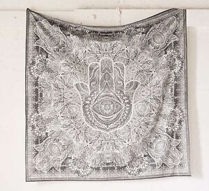 Details Zu Fatima Hand Hamsa Wandteppich Indisches Mandala Wandbehang überwurf Tagesdecke