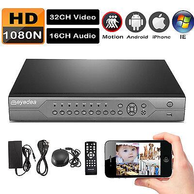 Eyedea 32 CH AHD Lite 1080P Surveillance DVR Video 16 Audio CCTV Security System