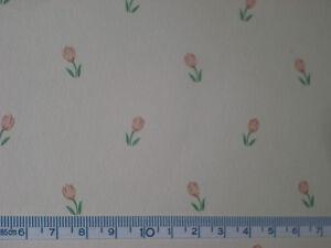 Alte Original-tapete Lachs-rosa Tulpen Puppenhaus Puppenstube 30x53cm Rabatte Verkauf