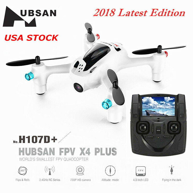 Hubsan X4 PRO H107D+ 2.4G Mini FPV Quadcopter with 1080P HD Camera Headless USA