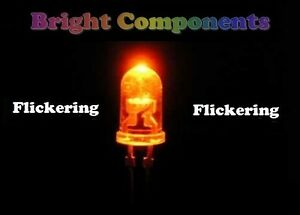 5-x-Orange-Flickering-LED-5mm-Candle-Flicker-Effect-UK-1st-CLASS-POST