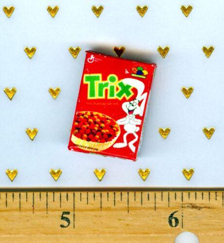 Dollhouse Miniature Size Fruity Breakfast Cereal Box  # TRX