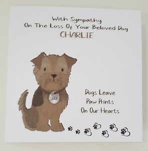 Loss Of Pet >> Details About Bereavement Sympathy Card Loss Pet Dog Cat Any Animal Breed Yorkshire Terrier