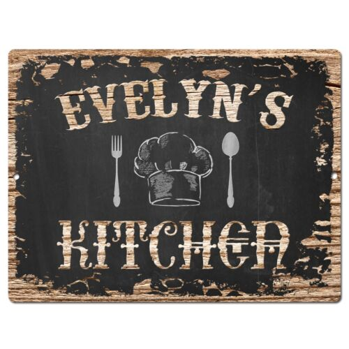 PP1747 EVELYN/'S KITCHEN Plate Chic Sign Home Room Kitchen Decor Birthday Gift