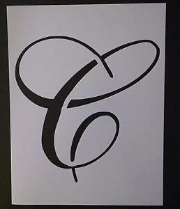 Image Is Loading Large Big Script Cursive Letter C 11 034
