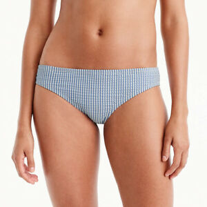 J-Crew-Womens-Seersucker-Bikini-Bottom-Size-Large-Blue-Swim-Suite-23515-NWT