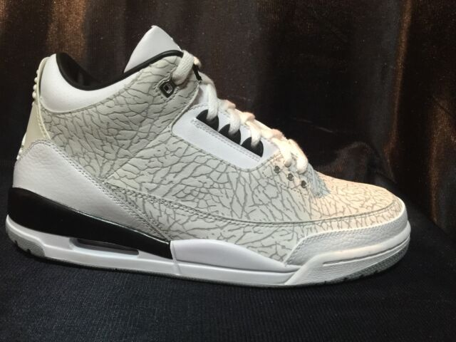 d16d8cfe1 Air Jordan Retro 3 Flip Sz 11 Black White Cement III DS RARE 2006 ...