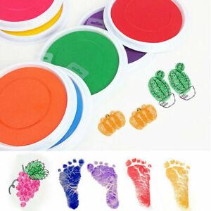 Ink-Pad-Stamp-Finger-Print-Non-Toxic-Handprint-Footprint-Kids-Gift-Rubber-DIY
