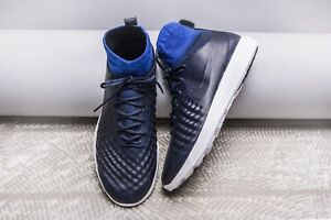 18a827dfd3fb Mens Nike Lunar Magista II Flyknit FK Soccer Shoe Navy Blue 852614 ...