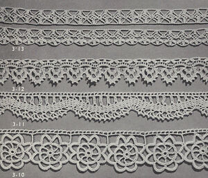 Vintage Crochet Pattern To Make 4 Special Lace Edging Designs Bands