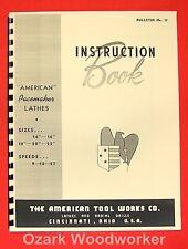 American Tool Works 14 16 18 20 22 Metal Lathe Instructions Manual 0008