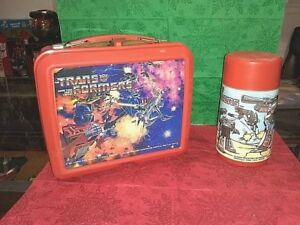 1984-VINTAGE-THE-TRANSFORMERS-LUNCH-BOX-AND-THERMOS-EXCELLENT-CONDITION