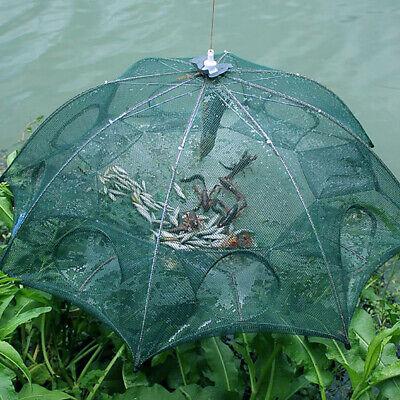 Köderfischreuse 8er Schirm Reuse Senke Masche Köder Fisch Netz Fischreuse Pop Up