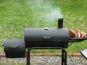 BBQ-Grill-Smoker-Portable-Camping-Cooker-Outdoor-Cooking-DIY-Blueprint-ONLY