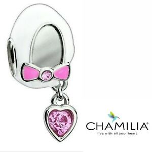 84f604df183aa Details about Genuine Chamilia 925 baby girl shoe bootie pink bracelet  charm in box 2083-0045