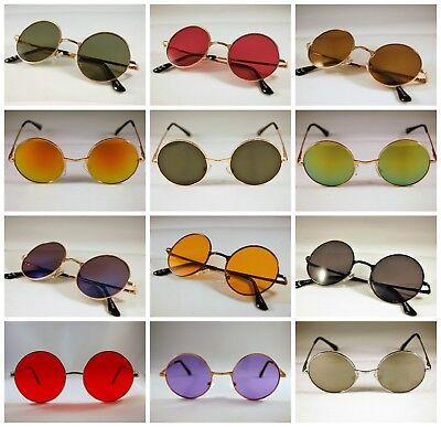 Cerchio Tondo Stile Vintage Hippie 50 S 60 S Occhiali Da Sole John Lennon Stile Retrò Cyber-mostra Il Titolo Originale