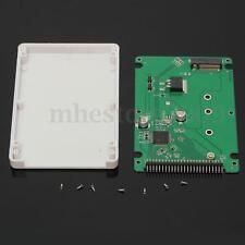 """2.5"""" IDE 2.5"""" PATA to 2.5"""" half hight SATA SSD Converter Adapter card with case"""