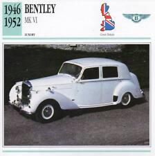 1946-1952 BENTLEY Mk.VI Classic Car Photograph / Information Maxi Card