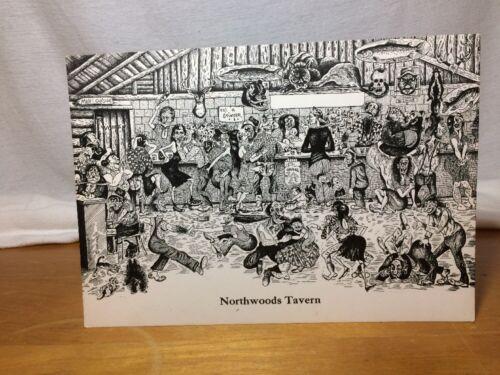 Rare Vintage N.F Pettingill 10X7 Postcard Titled Northwoods Tavern