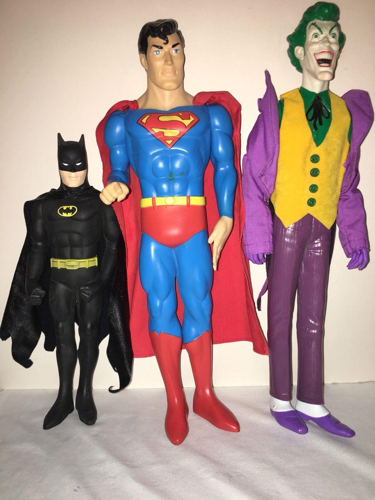 1988-89 Figura De Vinilo Lote De 3 Regalos Batman súperman DC Comics Hamilton Joker 15