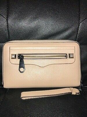 Rebecca Minkoff Regan Genuine Leather Zip Wristlet for