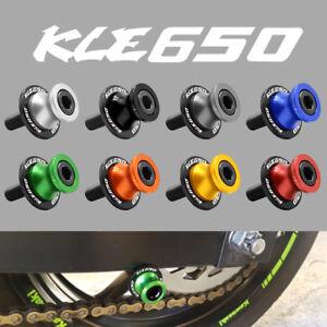 10mm Motor Swingarm Spools Slider CNC Motorcycle For Kawasaki KLE650 2007-2014