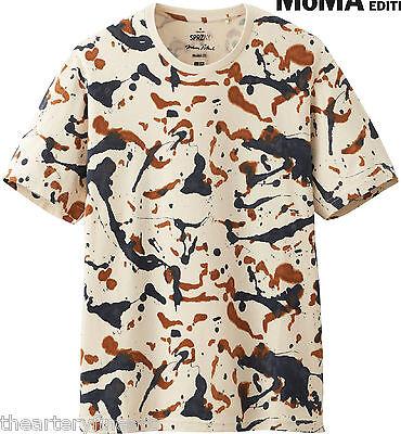 JACKSON POLLOCK x UNIQLO 'Splatter' MoMA SPRZ NY Abstract Art T-Shirt M **NWT**
