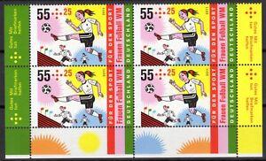 Frauen Fussball WM, 4xMiNr.:2858, unmounted mint / never hinged, 2011, Germany - Moers, Deutschland - Frauen Fussball WM, 4xMiNr.:2858, unmounted mint / never hinged, 2011, Germany - Moers, Deutschland