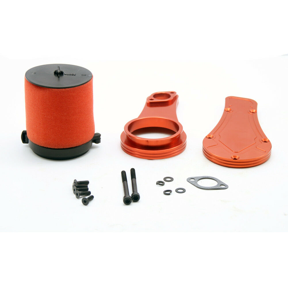 Alloy CNC CNC CNC Air filter connection plate orange Red&air filter set  for Losi 5ive T e37e83