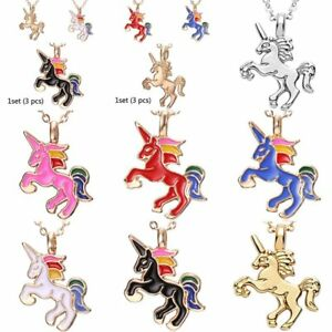Women-Colorful-Lovely-Horse-Animal-Pendant-Necklace-Gold-Tone-Jewelry-Gift-New