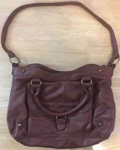 Image is loading Old-Navy-Faux-Leather-Bowler-Bag-w-Handles- 593fda3f8450c