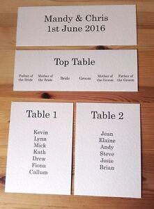 Image Is Loading Personalised Wedding Table Plan Diy Set Top