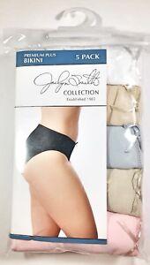 Womens-Cotton-Bikini-Underwear-Size-12-13-Jaclyn-Smith-PremiumPlus-Panties