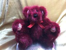 Fatto a mano artista Bear (Rubino) con stampa Babbo Natale Zampe