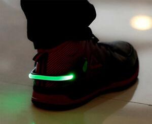 2 X Del Lumineux Chaussure Légère Sécurité Talon Clips Jogging Running Night Trainer Walk-afficher Le Titre D'origine