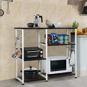 Details about 3-Tier Kitchen Cart Rack Utility Storage Wood Shelf Island  Microwave Oven Stand