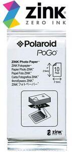Polaroid-Zink-10-Sheets-PoGo-Photo-Paper-2-X-3-Fit-Z2300-SNAP-Mobile-SEALED