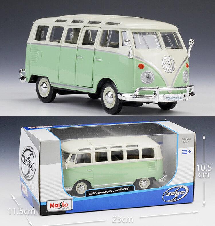 MAISTO 1 25 Volkswagen VAN SAMBA Alloy Diecast Vehicle Buss Car MODEL TOY GIFT