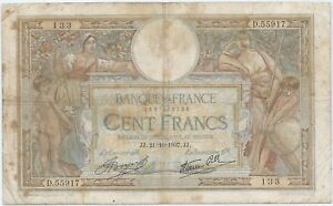 100-FRANCS-MERSON-21-10-1937-Billet-de-banque-francais-B
