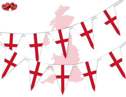 Angleterre complet drapeau patriotique sur le Thème Bunting Banner 15 Triangle De Drapeaux Nationaux