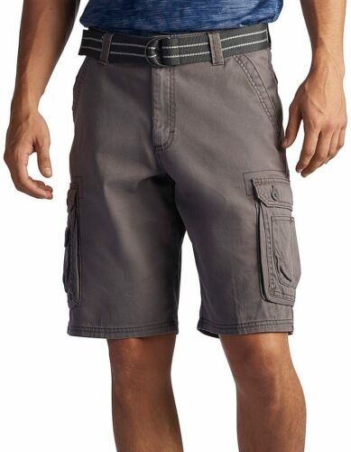 Lee Mens Dungarees Belted Wyoming Cargo Shorts